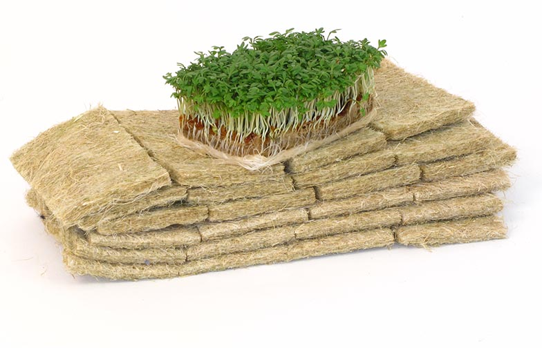 composteerbare mat van hennepvezel